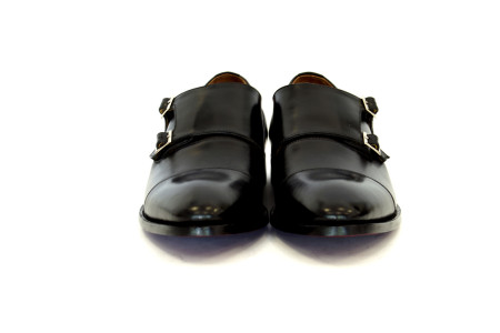 Double  Monk  Strap  Black  Leather