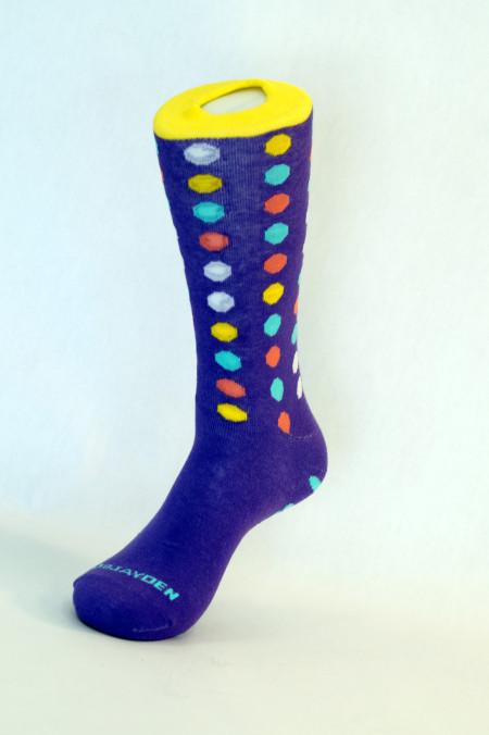 Purple Polka Dot- LUCKY & BLESSED