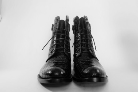 Leather Croc Boots